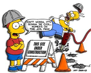 This site is under construction, but don't worry, Homer is on the job!